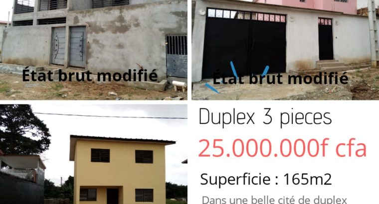 DUPLEX 3 PIECES EN VENTE