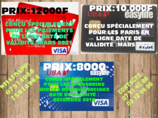 Carte visa prépayée
