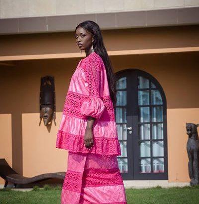 Boubou senegalais bazin riche getzner